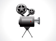 Abstract video camera icon. Vector illustration Stock Photo