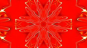 Abstract video that shines, bright light that arranges subtle colorful movements with flower, red background