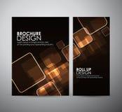 Abstract Vierkant Brochure bedrijfsontwerpmalplaatje of broodje omhoog Stock Foto
