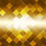 Abstract Vierkant Dot Golden Background Stock Foto's