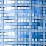 Abstract vierkant gewas van blauw bedrijfsbureau Royalty-vrije Stock Foto