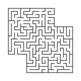 Abstract vierkant labyrint Spel voor jonge geitjes Raadsel voor kinderen Labyrintraadsel Vlakke vectordieillustratie op wit wordt vector illustratie