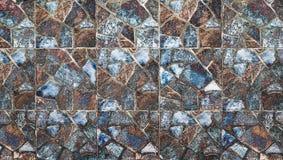 Abstract vierkant pixelmozaïek op muurtextuur en achtergrond Stock Foto