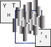 Abstract vierkanten en rechthoekenontwerp bedrijfsembleem Stock Foto