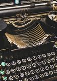 Abstract view of an antique vintage typewriter royalty free stock image