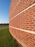 Abstract view of brick building Royalty Free Stock Photos