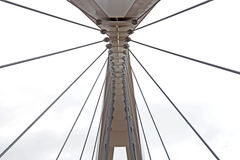 Abstract view of bridge support against a blue sky. Stock Image