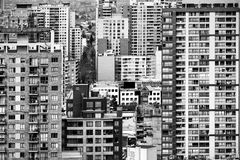 Abstract view of buildings in the city of Santiago Chile. Abstract view of buildings in the city of Santiago, Chile royalty free stock photo