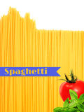 Abstract view of bunch of Italian spaghetti Stock Photos