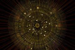 Abstract view of a chandelier in Singapore Stock Photos