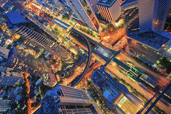 Abstract view cityscape from top view Royalty Free Stock Image