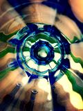 Abstract view of. Close up view of colorfull glass Stock Photography