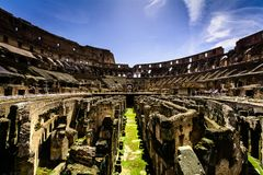 Abstract view of the Colloseum in Rome, Italy. An abstract shot taken from inside the colloseum in Rome, Italy royalty free stock photos