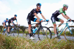 Abstract View Of Competitors In Cycle Race Stock Photos