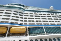 Cruise Ship Abstract. The abstract view of a cruise liner moored in Nassau Bahamas Royalty Free Stock Photos