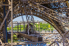 Abstract view of details of Eiffel Tower in Paris, France Royalty Free Stock Image