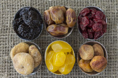 Abstract view of the dried fruit Royalty Free Stock Photo