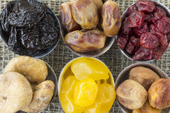 Abstract view of the dried fruit Stock Photos