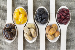 Abstract view of the dried fruits Royalty Free Stock Photo