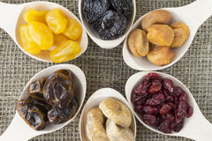 Abstract view of the dried fruits Royalty Free Stock Images