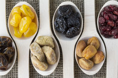 Abstract view of the dried fruits Stock Photo