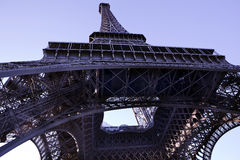 Abstract view of the Eiffel Tower Stock Photography