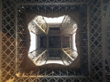 Abstract view of Eiffel Tower. Stock Photo
