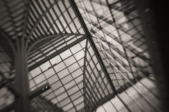 Abstract View of Glass Roof Stock Photo