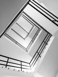 Abstract view of indoor stairs Stock Image