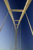 Abstract view of a large suspension bridge Royalty Free Stock Photos