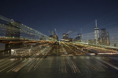 Abstract view of Manhattan skyline Stock Images