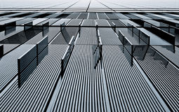 Abstract view of a metal building Stock Image