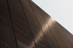 An abstract view of a metal building facade in NYC.  Stock Photography