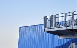 Abstract view of modern building with stairs stock photo