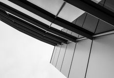 Abstract view of a modern, IT related headquarters showing its artistic presence. Royalty Free Stock Photography