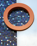Abstract view of mosaic tiles and circle Royalty Free Stock Photography