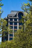 Abstract View of an Office Building and Trees Royalty Free Stock Image