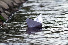 Abstract view of paper boat Stock Image