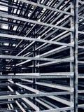 Abstract iron racks stock image