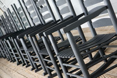 Abstract view of rocking chairs Royalty Free Stock Photography