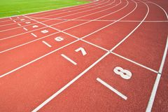 Abstract view of running track Royalty Free Stock Photos