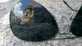 Abstract view through shades. A glorious view of ancient history through modern shades Stock Photo