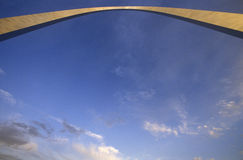Abstract view of St. Louis Arch from below, MO Royalty Free Stock Photos