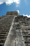 Abstract view of Steps of Ancient Mayan Pyramid Stock Images