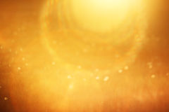 Abstract view of sunny rays - yellow background Stock Photo