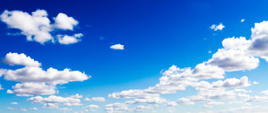 Abstract View of Surreal Clouds in Vivid Blue Sky Stock Photo