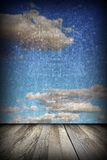 Abstract view to the sky from terrace Stock Image