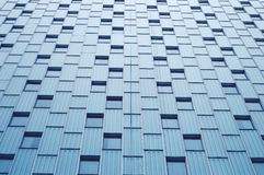 Abstract view to steel blue background of glass facade Stock Images