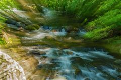 Abstract View of a Wild Mountain Stream royalty free stock photo