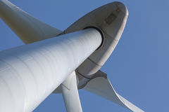 Abstract view of Wind turbine producing alternative energy Royalty Free Stock Image